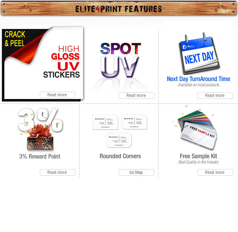 Elite4Print.com: Trade Printing - Business cards, Postcards ...